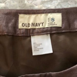 Old Navy Skirts - Bronze shiny mini skirt